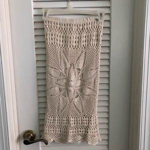 Volcom Dwell Crochet Pencil Skirt